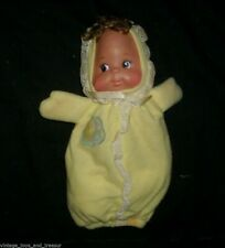 "9"" VINTAGE 1984 MATTEL BABY BUNTING BEANS GIRL DOLL STUFFED ANIMAL PLUSH TOY"