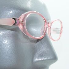Fun Reading Glasses See Thru 50's Pink Jelly Whimsy Oval Frame +2.50 Lens