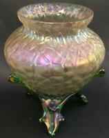 Vtg Art Deco period Kralik Martele Vase Loetz Pallme iridescent glass czech Deco