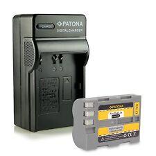 Batteria + caricabatteria 1300 mah en-el3e per nikon d300 d100 d700 d80 enel3e