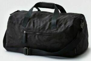 NWT American Eagle AE Black Camo Duffle Gym Bag