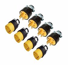 8 Male & Female 3 Wire Replacement Electrical Plug Ends, 3 prong, Extension Cord