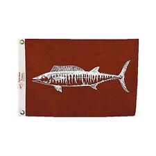 "Taylor Made 12"" x 18"" Fisherman's Catch Wahoo Fish Nylon Flag Marine Boat 4118"