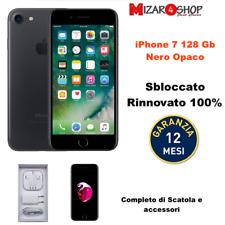 APPLE IPHONE 7 128 GB NERO RICONDIZIONATO GRADO A  GARANZIA E ACCESSORI