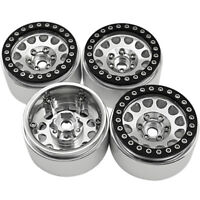 "1/4Pcs Aluminum Beadlock 1.9""  Wheel Rims Set for D90 SCX10 CC01 TRX4 RC Crawler"