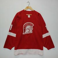 Vintage Spartans #11 CCM Maska Authentic Hockey Jersey Size 52 Fight Strap Red