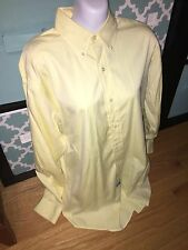 Yellow Ralph Lauren Polo Shirt Button Dress Shirt Classic Pony 15 32/33 Yarmouth