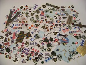 DRAGON, DML, DID 1:6 SCALE WWII US ARMY INSIGNIA - LARGE LOOSE LOT !!!