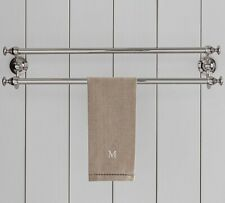 Pottery Barn Set of 2 Linen Hemstitch Guest Hand Towels - Flax Neutral - Nwt