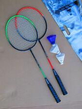 Federballset GREENHORN 2 Schläger, 3 Bälle, Badmintonset