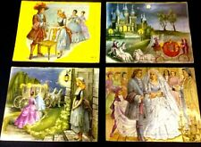 LOT of 4 VINTAGE 1954 SIFO Co Princess Cinderella Tray Puzzles Made in USA