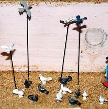 10 Assorted Doves & pigeons (OO/HO Scale) - Unpainted - Langley F148