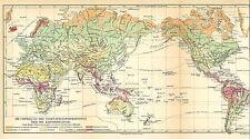 Landkarte 1909: Die Verteilung der Vegetationsformationen Erdoberfläche. (Mkl7)