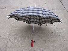 Vintage Used Umbrella Parasol Black and White Made in Japan good for decor