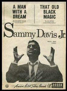 1955 Sammy Davis Jr. photo A Man With a Dream/hat Old Black Magic trade print ad