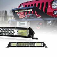 10inch Slim LED Light Bar Dual Row Spot Flood Combo Work SUV Offroad ATV 4WD Fog