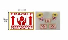 Fragile Handle This Way Up 25mm Core Roll Labels Choose Quantity