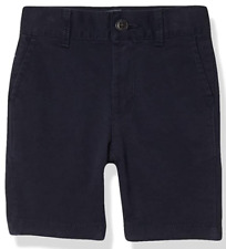 The Children's Place Boys Slim Size 8 Uniform Chino Shorts with Pockets Navy Nwt