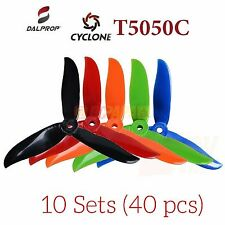 DALPROP Cyclone T5050C Tri-Blade Propeller Props for FPV Quad Race(10 Set 40pc)