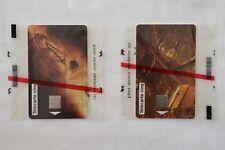 LOT DE 2 TELECARTES 5 UNITES NSB Gn66 PIECES D´OR et Gn65 LINGOT D'OR New Sealed