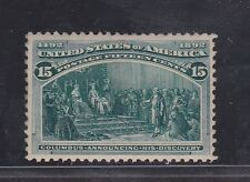 238  15c  COLUMBIAN  M OG  WITH BRILLIANT COLOR