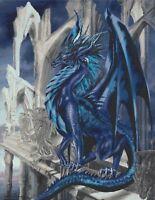 BLUE DRAGON # 3 - CROSS STITCH CHART