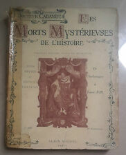MORTS MYSTERIEVSES DE L'HISTOIRE CABANES 1923
