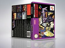 Castlevania: vampire's kiss-snes-replacement-cover/case-no game