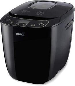 Tower T11003 2 Lb Digital Bread Maker with 12 Automatic Programs, 550 W, Black
