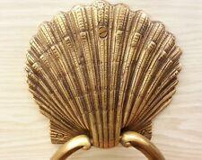 Brass Door SEA SHELL Figurine Handle Knocker Pull Vintage Hand Home Decor Living
