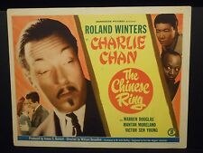 Charlie Chan The Chinese Ring 1947 orig Title Lobby Card Roland Winters