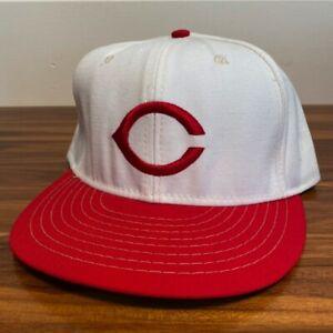Cincinnati Reds Hat Baseball Cap Fitted 7 3/8 American Needle White Vintage MLB