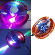 Temperature Control Colorful LED PC CPU Cooler Cooling Fan For Intel 775 AMD 754
