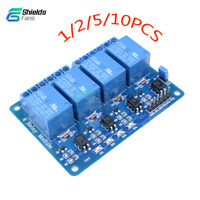 1/2/5/10PCS 4 Four Channel Relay DC5V Optocoupler Module For Arduino PIC ARM AVR