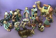 Large Hummel Goebel 18 piece  Nativity Set 1951. #214 Good Condition!