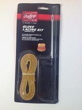 """Rawlings Glove Lacing Kit 48"""" Genuine American Rawhide Lace W/ Steel Lacing Tool"""
