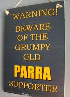Grumpy Parra Parramatta Eels Fan Rugby League Sign Football Signs Jerseys
