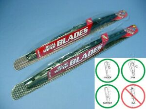 "PAIR Pilot Automotive WBP-18GM 18"" Universal Dual Wiper Blade Gun Metal Hot Rod"