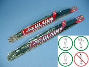 "PAIR Pilot Automotive WBP-18GM 18"" Universal Dual Wiper Blade Gun Metal Hot Rod"