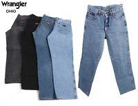 Vintage Wrangler Ohio Mens Regular Fit Straight Jeans 26W to 44W
