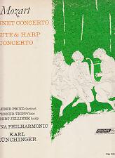 MOZART CLARINET CONCERTO-PRINZ+FLUTE-HARP-VIENNA PHIL MUNCHINGER 1963 CLASSIC NF