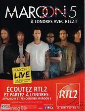 Publicité advertising 2015 Radio RTL 2 avec Maroon 5