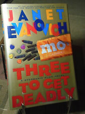 Janet Evanovich, Three to Get Deadly, Signed, 1st Edition,1st Printing, Like New