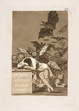 Goya Print Reproduction: The Sleep of Reason Produces Monsters: Fine Art Print
