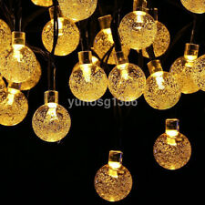 30 LED Outdoor Solar String Lights Bubble Beads for Holiday Trees Garden Party