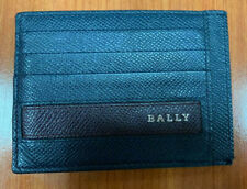 Authentic Men's Bally Credit Card Case Holder Wallet Blue