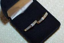 14k .80ct DIAMOND SOLITAIRE BAND 2 RING WEDDING BRIDAL SET 2 RING SET