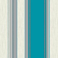 NEW Teal / Silver Glitter- M0801 - Synergy - Stripe -Textured Vymura Wallpaper