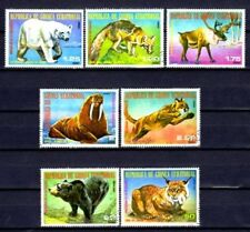 Animaux Faune sauvage Guinée Equatoriale (80) série complète 7 timbres oblitérés