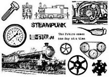 CREATIVE EXPRESSIONS U Mount Stamps VINTAGE ILLUSION A5 Stamp Plate STEAMPUNK